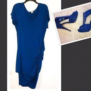 Sexy Asymmetrical Twist Bodycon Plus Size Dress